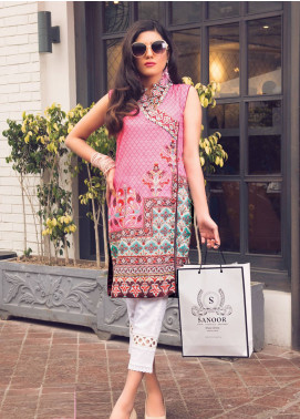 Sanoor by Noor Fatima Embroidered Lawn Unstitched Kurties SNO19K 864 - Spring / Summer Collection