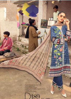 Sanoor by Noor Fatima Embroidered Lawn Unstitched 3 Piece Suit SNO20M D-189 - Summer Collection