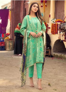 Sanoor by Noor Fatima Printed Lawn Unstitched 3 Piece Suit SNO20M D-195 - Summer Collection