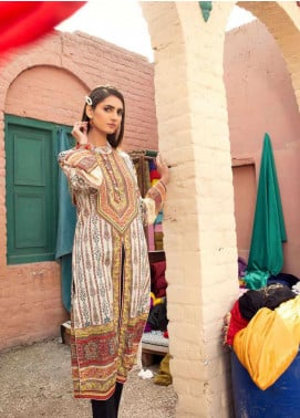 Sanoor by Noor Fatima Embroidered Lawn Unstitched Kurties SNO20M D-905 - Summer Collection