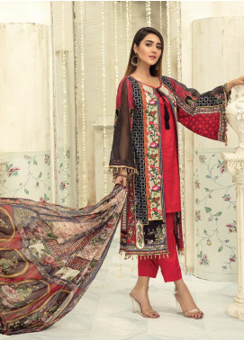 Sanoor by Noor Fatima Embroidered Linen Unstitched 3 Piece Suit SNO19-WE1 154 - Winter Collection