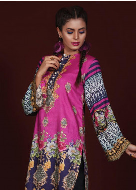 Sanoor by Noor Fatima Printed Linen Unstitched Kurties SNO19W 887 - Winter Collection
