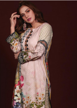 Sanoor by Noor Fatima Printed Linen Unstitched Kurties SNO19W 888 - Winter Collection
