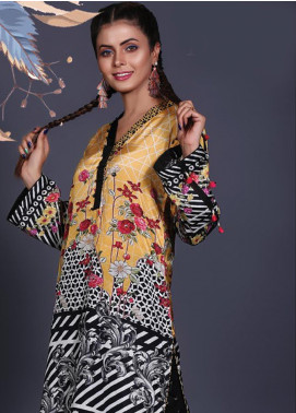 Sanoor by Noor Fatima Printed Silk Unstitched Kurties SNO19W 897 - Winter Collection