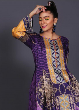 Sanoor by Noor Fatima Printed Silk Unstitched Kurties SNO19W 898 - Winter Collection