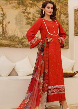 Sanoor by Noor Fatima Embroidered Linen Unstitched 3 Piece Suit SN20W 234 - Winter Collection