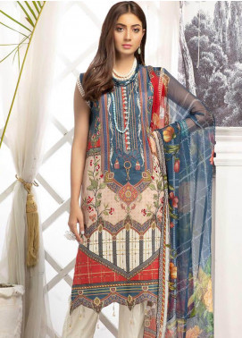 Sanoor by Noor Fatima Digital Printed Lawn Unstitched 3 Piece Suit SN20P D-199 - Spring / Summer Collection
