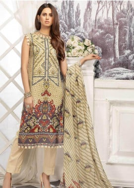 Sanoor by Noor Fatima Digital Printed Lawn Unstitched 3 Piece Suit SN20P D-205 - Spring / Summer Collection