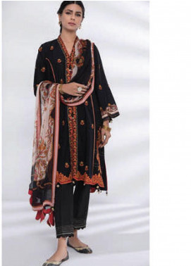 Sapphire Embroidered Dobby Unstitched 3 Piece Suit SP20L Black Opium - Spring / Summer Collection