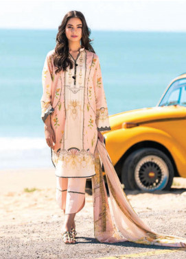 Sapphire Printed Lawn Unstitched 2 Piece Suit SP20L Carnation Crest A - Spring / Summer Collection