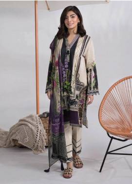 Sapphire Embroidered Lawn Unstitched 3 Piece Suit SP20L Cascade Mist A - Spring / Summer Collection