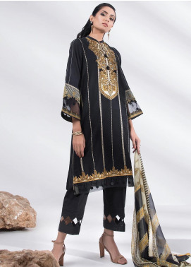 Sapphire Embroidered Dobby Unstitched 3 Piece Suit SP20L Gold Foliage - Spring / Summer Collection