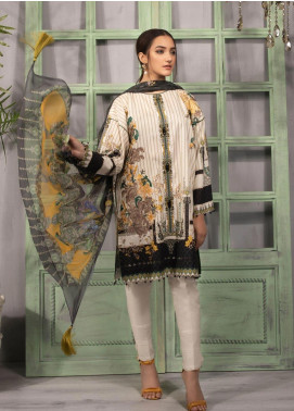 Sapphire Embroidered Nylon Unstitched 2 Piece Suit SP20L Golden Amber A - Spring / Summer Collection