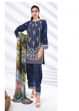 Sapphire Embroidered Dobby Unstitched 3 Piece Suit SP20L Moonscape - Spring / Summer Collection