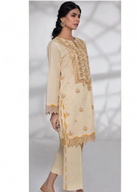 Sapphire Embroidered Dobby Unstitched 2 Piece Suit SP20L Peach Cosmo - Spring / Summer Collection