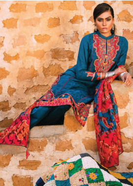 Sapphire Embroidered Jacquard Unstitched 2 Piece Suit SP20L Radiant Orchid A - Spring / Summer Collection