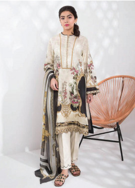 Sapphire Printed Lawn Unstitched 2 Piece Suit SP20L Serene Slate A - Spring / Summer Collection
