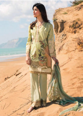 Sapphire Printed Lawn Unstitched 2 Piece Suit SP20L Serene Slate B - Spring / Summer Collection