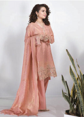 Sapphire Embroidered Jacquard Unstitched 3 Piece Suit SP20L Shadow Rose - Spring / Summer Collection