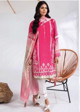 Sapphire Printed Lawn Unstitched 2 Piece Suit SP20L Touch Of Pink - Spring / Summer Collection