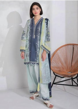 Sapphire Printed Lawn Unstitched 3 Piece Suit SP20L Tropical Harmony B - Spring / Summer Collection