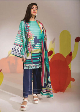 Sapphire Printed Lawn Unstitched 3 Piece Suit SP20L Wild Mint - Spring / Summer Collection