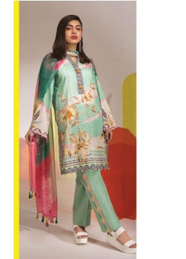 Sapphire Printed Lawn Unstitched 3 Piece Suit SP20L Wonder Mint - Spring / Summer Collection