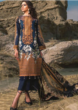 Sapphire Embroidered Lawn Unstitched 3 Piece Suit SP20L Woven Dreams - Spring / Summer Collection