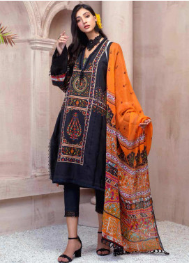 Sarang by Ittehad Textiles Printed Khaddar Unstitched 3 Piece Suit SG20PW 02 DARK SEA - Winter Collection