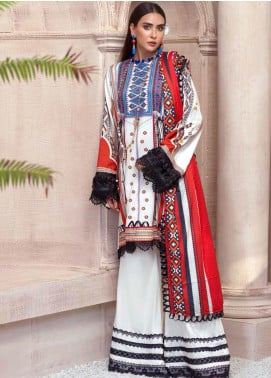 Sarang by Ittehad Textiles Printed Linen Unstitched 3 Piece Suit SG20PW 03 PEPPER MINT - Winter Collection