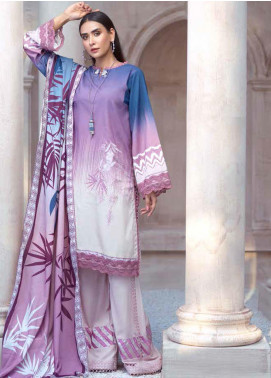 Sarang by Ittehad Textiles Printed Linen Unstitched 3 Piece Suit SG20PW 05 MAUVE MIST - Winter Collection