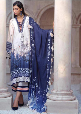 Sarang by Ittehad Textiles Printed Linen Unstitched 3 Piece Suit SG20PW 06 BLUE BELL - Winter Collection