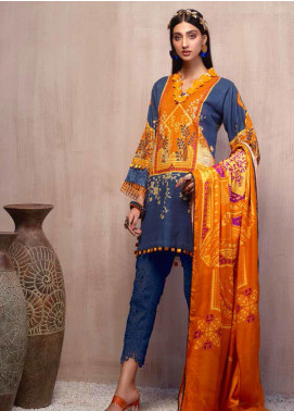 Sarang by Ittehad Textiles Printed Khaddar Unstitched 3 Piece Suit SG20PW 12 SNOW BERRY - Winter Collection