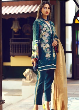 Sarang Embroidered Viscose Unstitched 3 Piece Suit SG19W CAPRI - Winter Collection
