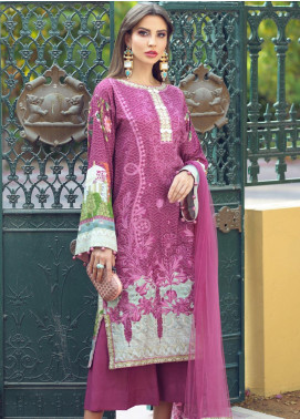Sarang Embroidered Viscose Unstitched 3 Piece Suit SG19W CARMINE - Winter Collection