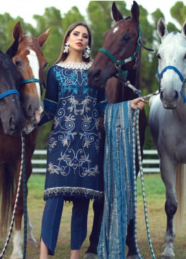 Sarang Embroidered Viscose Unstitched 3 Piece Suit SG19W IMPERIAL - Winter Collection