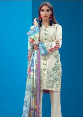 Sarang Embroidered Viscose Unstitched 3 Piece Suit SG19W DOESKIN - Winter Collection
