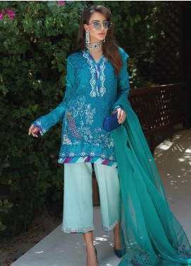 Sarang Embroidered Chiffon Unstitched 3 Piece Suit SIT19F 3 ECLIPSE - Festive Collection