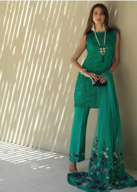 Sarang Embroidered Chiffon Unstitched 3 Piece Suit SIT19F 5 MUSE - Festive Collection