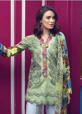 Sarang by Ittehad Textiles Embroidered Lawn Unstitched 3 Piece Suit SIT19LC 02 Berila - Luxury lawn Collection