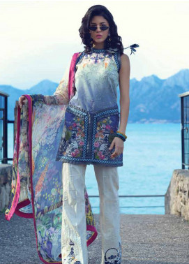 Sarang by Ittehad Textiles Embroidered Lawn Unstitched 3 Piece Suit SIT19LC 07 Leman - Luxury lawn Collection