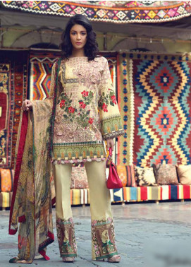 Sarang by Ittehad Textiles Embroidered Lawn Unstitched 3 Piece Suit SIT19LC 10 Sanem - Luxury lawn Collection