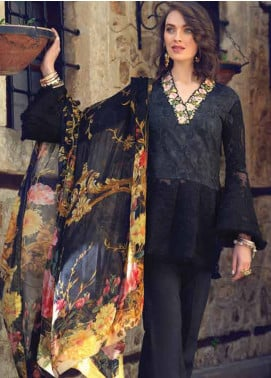 Sarang by Ittehad Textiles Embroidered Lawn Unstitched 3 Piece Suit SIT19LC 13 Verda - Luxury lawn Collection