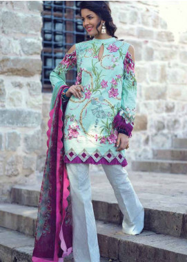 Sarang by Ittehad Textiles Embroidered Lawn Unstitched 3 Piece Suit SIT19LC 14 Rana - Luxury lawn Collection
