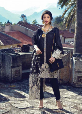 Sarang by Ittehad Textiles Embroidered Lawn Unstitched 3 Piece Suit SIT19LC 16 Siyah - Luxury lawn Collection