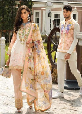 Sarang Embroidered Lawn Unstitched 3 Piece Suit S20LS 14 - Spring / Summer Collection