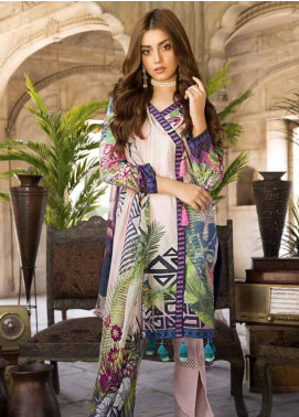 Satin Stitch Embroidered Lawn Unstitched 3 Piece Suit SS19E 01 - Eid Collection
