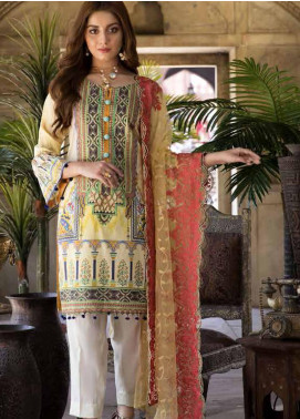 Satin Stitch Embroidered Lawn Unstitched 3 Piece Suit SS19E 03 - Eid Collection