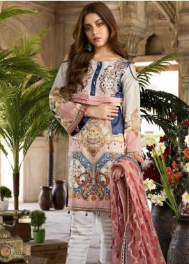 Satin Stitch Embroidered Lawn Unstitched 3 Piece Suit SS19E 05 - Eid Collection