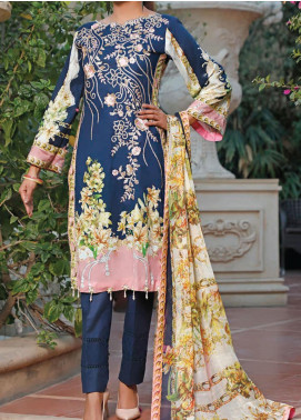 Sauda Saad by VS Textile Embroidered Lawn Unstitched 3 Piece Suit VS20SS 20-01 - Spring / Summer Collection